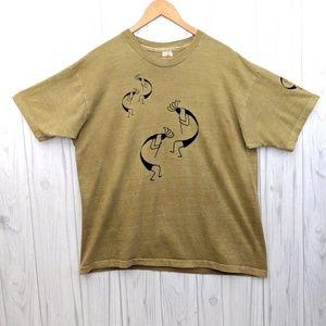 🌻3/$30 Vintage Single Stitch Tan Kokopelli Shirt